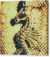 Charming Vintage Seahorse Canvas Print