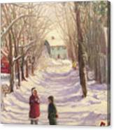 Chase Road Winter Canvas Print