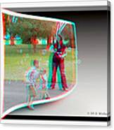 Chasing Bubbles - Use Red-cyan 3d Glasses Canvas Print