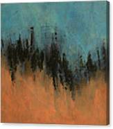 Chasing Stories Abstract Painting Canvas Print