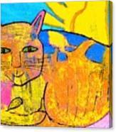 Chat A La Fenetre Canvas Print