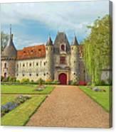 Chateau De Saint-germain-de-livet, Normandy, France Canvas Print