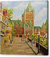 Chateau Frontenac Promenade Quebec City By Prankearts Canvas Print