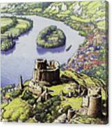 Chateau Gaillard, Also Known As The New Castle Of The Rock  Canvas Print
