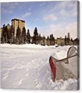 Chateau Lake Louise In Winter In Alberta Canada Canvas Print