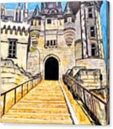 Chateau Saumur, A Long Way Up Canvas Print