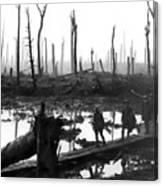 Chateau Wood France World War One  1917 Canvas Print