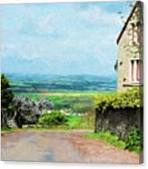 Chateauneuf, Cote-d'or, France, Village Lane Canvas Print