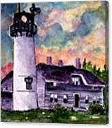 Chatham Lighthouse Martha's Vineyard Massachuestts Cape Cod Art Canvas Print