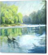 Chattahoochee River- Trout Fishing Canvas Print