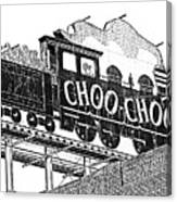Chattanooga Choo Choo Sign In Black And White Canvas Print