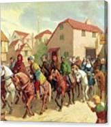 Chaucer's Pilgrims Canvas Print