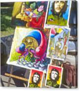Che Guevara And Other Artwork Canvas Print