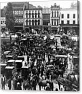 Cheapside Public Square In Lexington - Kentucky - April 7  1920 Canvas Print