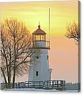 Cheboygan Harbor Light 2 Canvas Print