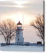 Cheboygan Harbor Light Canvas Print