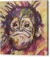 Cheeky Lil' Monkey Canvas Print