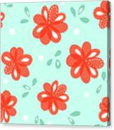 Cheerful Red Flowers Canvas Print