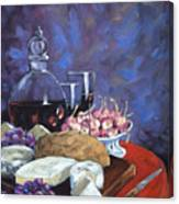 Cheese And Good Wine Canvas Print