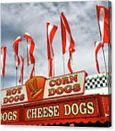 Cheese Dogs Galore Canvas Print