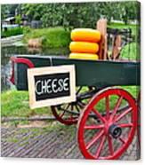 Cheese On A Wagon Canvas Print