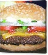 Cheeseburger Deluxe Canvas Print