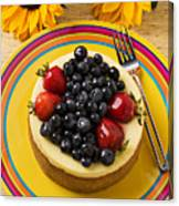 Cheesecake With Fruit Canvas Print