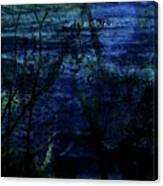 Cheetah Blue Canvas Print