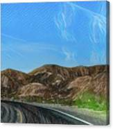 Chem Trails Valley Of Fire  Canvas Print
