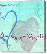 Chemical Thermodynamic Equation For Love Canvas Print