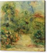 Chemin Aux Collettes Avec Tilleul Canvas Print