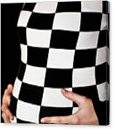 Chequered Pregnancy Canvas Print