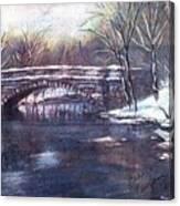 Cherokee Park Bridge Canvas Print