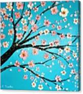 Cherry Blossom Morning Canvas Print