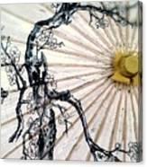Cherry Blossom Parasol  Canvas Print