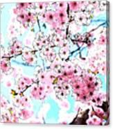 Cherry Blossom Watercolor Canvas Print