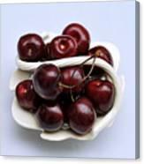 Cherry Dish Canvas Print