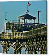 Cherry Grove Pier - Closeup End Of Pier Canvas Print