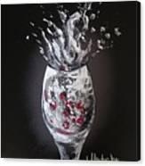 Cherry Splash Canvas Print