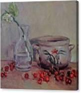 Cherry Still Life Pottery Red Still Life Art Still Life Painting Impressionist Painting Impression Canvas Print