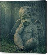 Cherub Lost In Thoughts Canvas Print