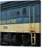 Chesapeake And Ohio Boxcar  Canvas Print