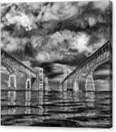 Chesapeake Bay Bw Canvas Print