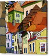 Chesky Krumlov Masna Street 1 Canvas Print
