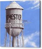 Chester Water Tower Ne Canvas Print
