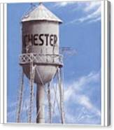 Chester Water Tower Poster Canvas Print