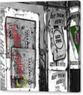 Chesterfield And Lucky Strike Cigarette Signs S. Meyer Avenue Barrio, Tucson, Az 1967-2016 Canvas Print