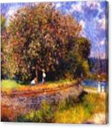 Chestnut Tree Blooming 1881 Canvas Print