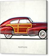 Chevrolet Fleetline 1948 Canvas Print