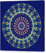 Chevrons II Mandala Canvas Print